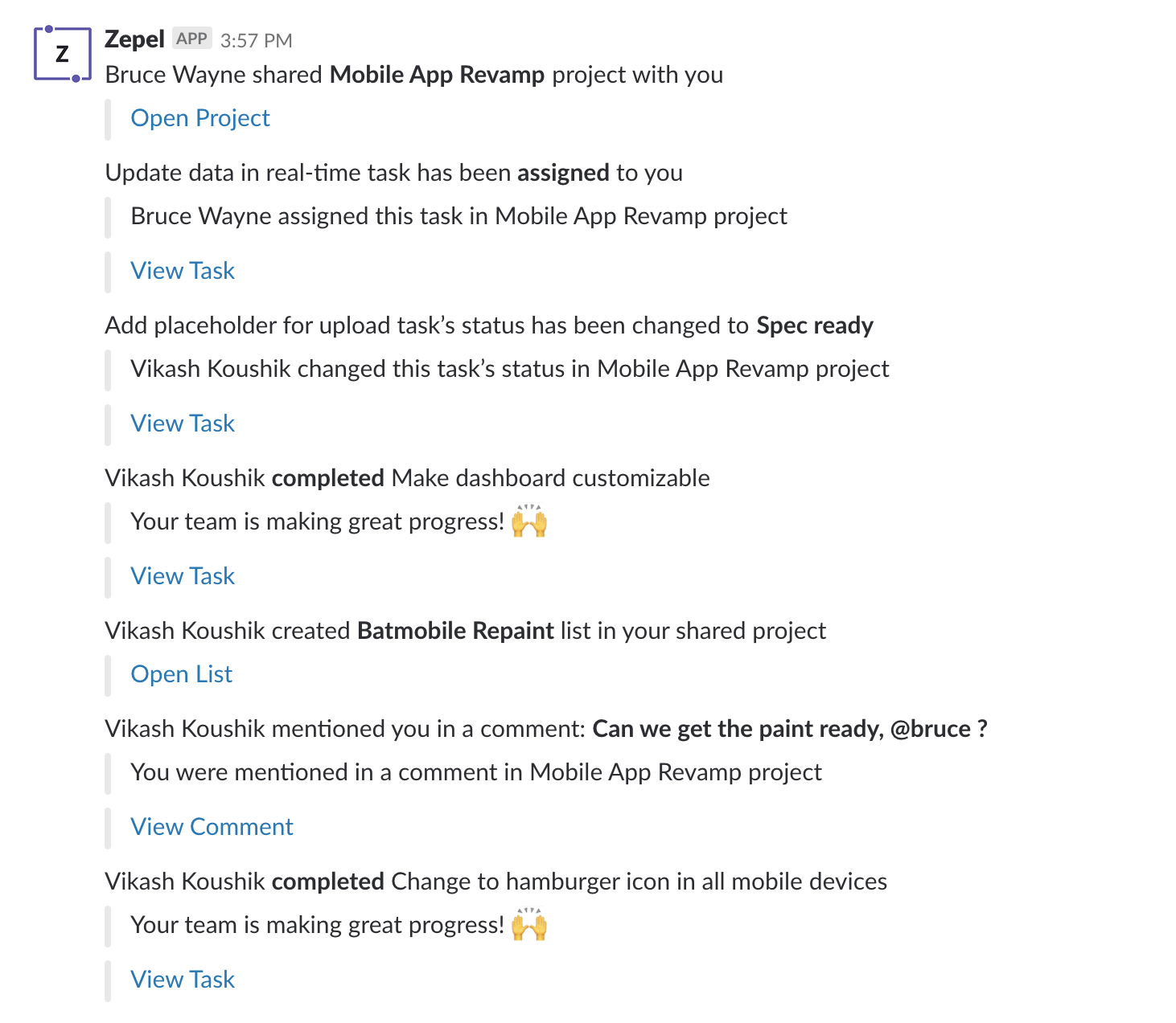 Slackbot Integration